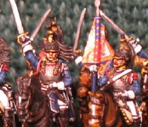 15mm, Napoleonic French Cuirassier Charging AB 12 fig